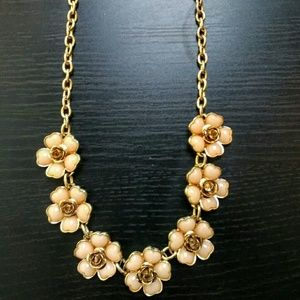 Floral gold statement necklace